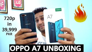 Oppo A7 Unboxing & Hands On Review 🔥 | Urdu | Hindi | KnowledgeArena