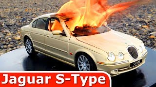Burning my Jaguar S Type - The Car is on FIRE - Just a Model Toy Car