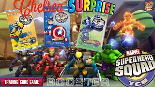 Marvel Super Hero Squad Trading Card Game Booster Reveal, War Machine, Captain America, Wolverine