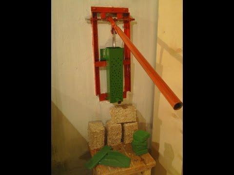 Пресс для пеллет из опилок