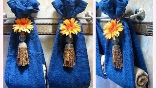Como decorar las toallas de baño para que luzcan difentes y llamativas. Decorar toallas de baño. (3)
