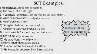 SCT Tips and solved examples for ISSB.