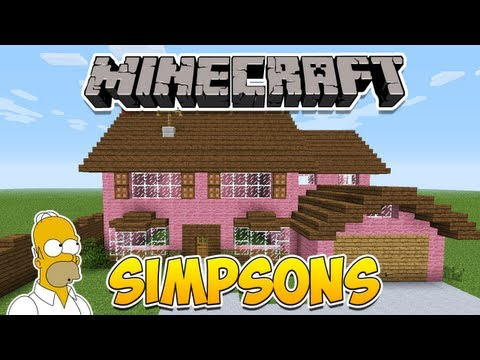 Minecraft Como construir a casa dos Simpsons