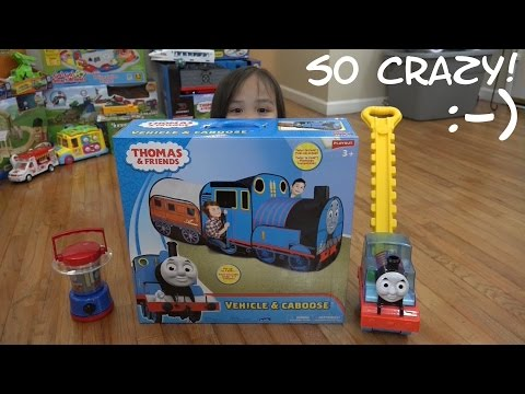 Thomas the Tank Engine Annie & Clarabel Playhut Play Tent Unboxing and Playtime
