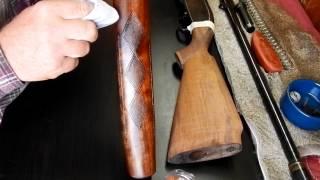 Refinishing A Gun Stock Using Boiled Linseed Oil / Winchester Model 50 Shotgun