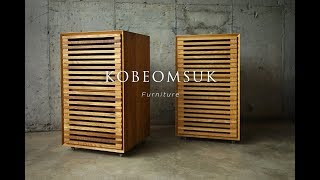 Kobeomsuk furniture - Making of Movable White Oak Cabinet
