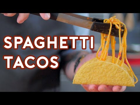 Binging with Babish Spaghetti Tacos from iCarly