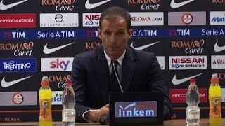 Roma-Juve: Allegri: Sconfitta utile per rialzare l'attenzione