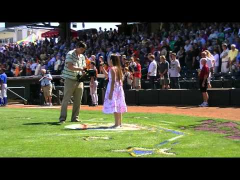 National Anthem - KC Royals vs SF Giants - 11 Yr Old Athena Creese