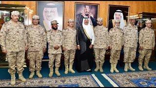 سمو الأمير متعب بن عبدالله يقلّد عدداً من ضباط الحرس الوطني رتبهم الجديدة