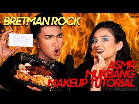 BRETMAN ROCK ASMR Mukbang Makeup Tutorial Shay Mitchell
