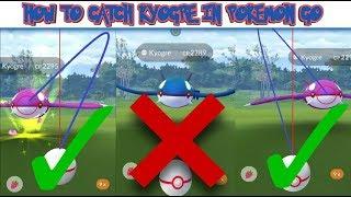 How To Catch Kyogre In Pokemon Go   New Throw Method  