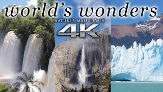 WORLD'S WONDERS in 4K | 1HR Nature Relaxation™ UHD Music Video / Screensaver