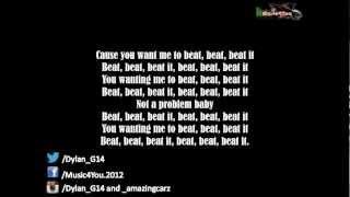 Sean Kingston - Beat It (Ft. Chris Brown & Wiz Khalifa) FULL LYRICS