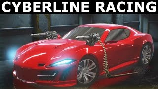 Cyberline Racing Gameplay - PC Walkthrough (No Commentary) (Steam Indie Racing Game 2017)
