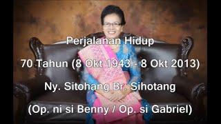 70 tahun Dainang (Op. si Gabriel Sitohang br Sihotang)