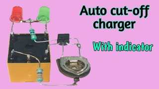 Auto cut off 6V/12V battery charger