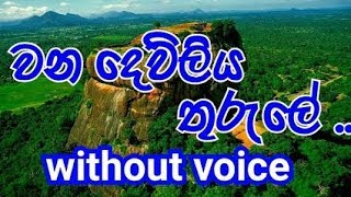 Wana dewliya thurule Karaoke (without voice) වන දෙව්ලිය තුරුලේ
