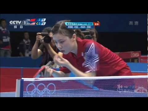 Tribute to Ariel Hsing in Olympics Ariel Hsing vs Li Xiao Xia