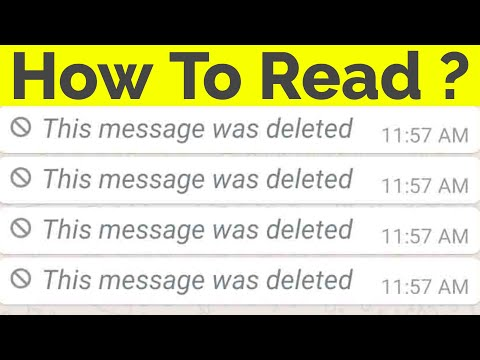 Xxx Mp4 How To Read Deleted Messages On Whatsapp Messenger This Message Was Deleted 3gp Sex