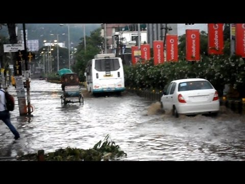 Guwahati city - flooded in just 15 minutes of rainfall