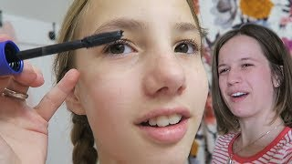 Teaching Abby How to Wear Makeup for the FIRST TIME