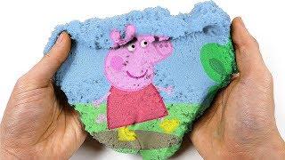 Green Screen Mad Mattr Kinetic Sand Funny Magic Show Peppa Pig PJ Masks for Kids