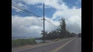 Driving on Oahu from Mililani to Kahaluu.