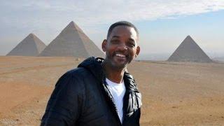 زيارة النجم العالمى ويل سميث لمصر والاهرامات  Will Smith is in Cairo