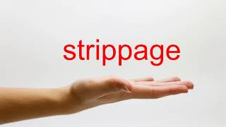 How to Pronounce strippage - American English