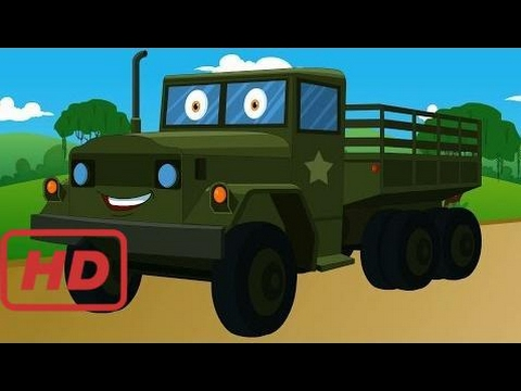 Songs for kids |  army truck | vehicles kids | autos for kids