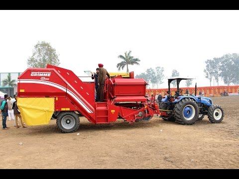New Holland 6010 with Grimme SE 75 20 Potato Harvestor at Bj farms Punjab