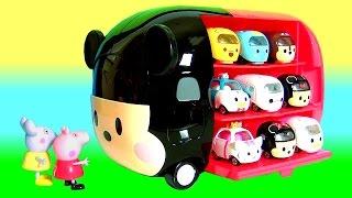 Como Guardar Disney Tsum Tsum Motors Carrinhos da Tomica Takara Tomy no novo Mickey Tsum Tsum Motors
