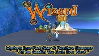Wizard101 Wysteria Lore Pack Gear & Furniture Showcase