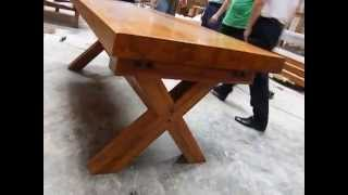 X Bench Table