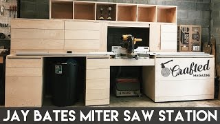 Building the Jay Bates Miter Saw Station Part 1 | Crafted Workshop