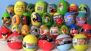 30 Surprise Eggs! Ben 10 Kinder Surprise, Playmobil, Zelda Pixar Cars Thomas Angry Birds Shrek Moshi