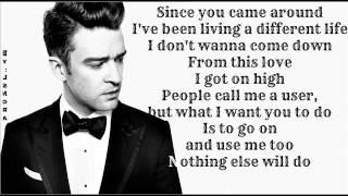 Justin Timberlake  Pusher Love Girl  Lyrics On Screen  2013  The 20  20 Experience