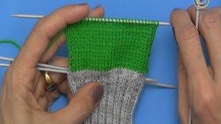 Projekt: Sockenstricken hier eine einfache Fersenwand, 3. Teil