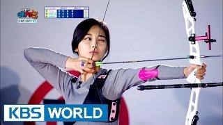 How's Tzuyu's archery skills? [Cool Kiz on the Block / 2016.10.11]