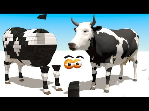 Xxx Mp4 CUBE BUILDER For KIDS HD Build A Cow From Farm 2 For Children AApV 3gp Sex