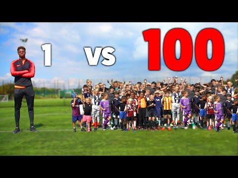 Xxx Mp4 100 KIDS Vs 1 PRO Footballer In A Soccer Match 3gp Sex
