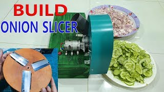 Build a Onion Slicer Machine Using Wooden Cutting Board At home