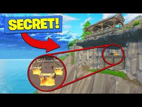 SECRET CLIFF BASE *FOUND* In Fortnite Battle Royale!