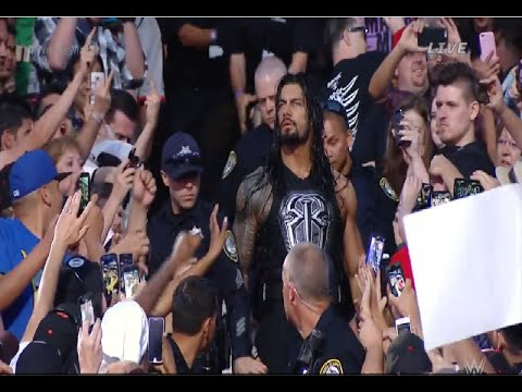 Angry Roman Reigns Pushes Brock Lesnar Fan WWE
