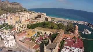 Ripresa aerea alla borgata dell'Acquasanta e tonnara Florio (Palermo)