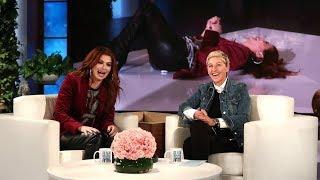 Ellen Scares Debra Messing During 'Speak Out'
