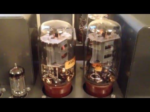 Robots by Kraftwerk played through Quad ll valve amps.
