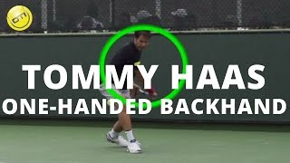 One-Handed Backhand Tip: Learn From Tommy Haas