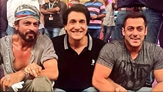 Salman & Shahrukh Before Rehearsing For TOIFA Awards 2016 Performance